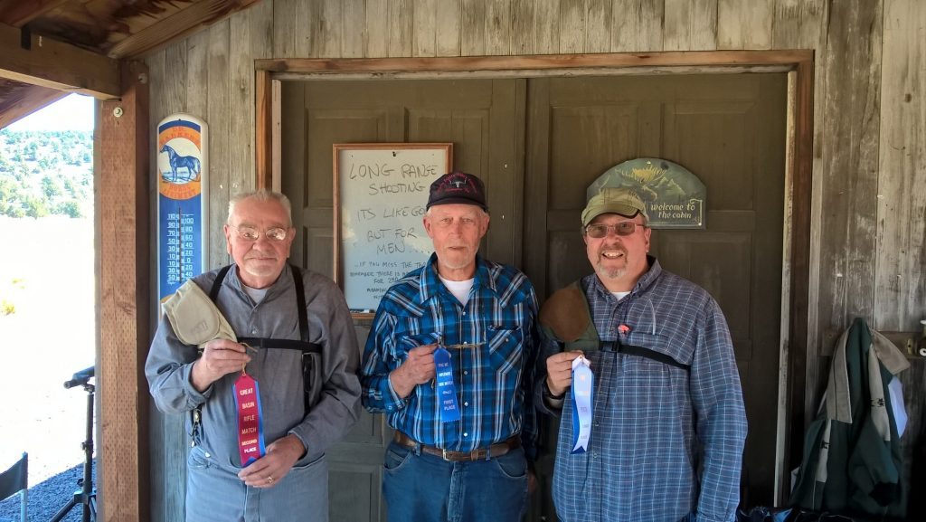 August Military Single Shot winners L to R: Butch 2nd, Doc 1st, Willy 3rd