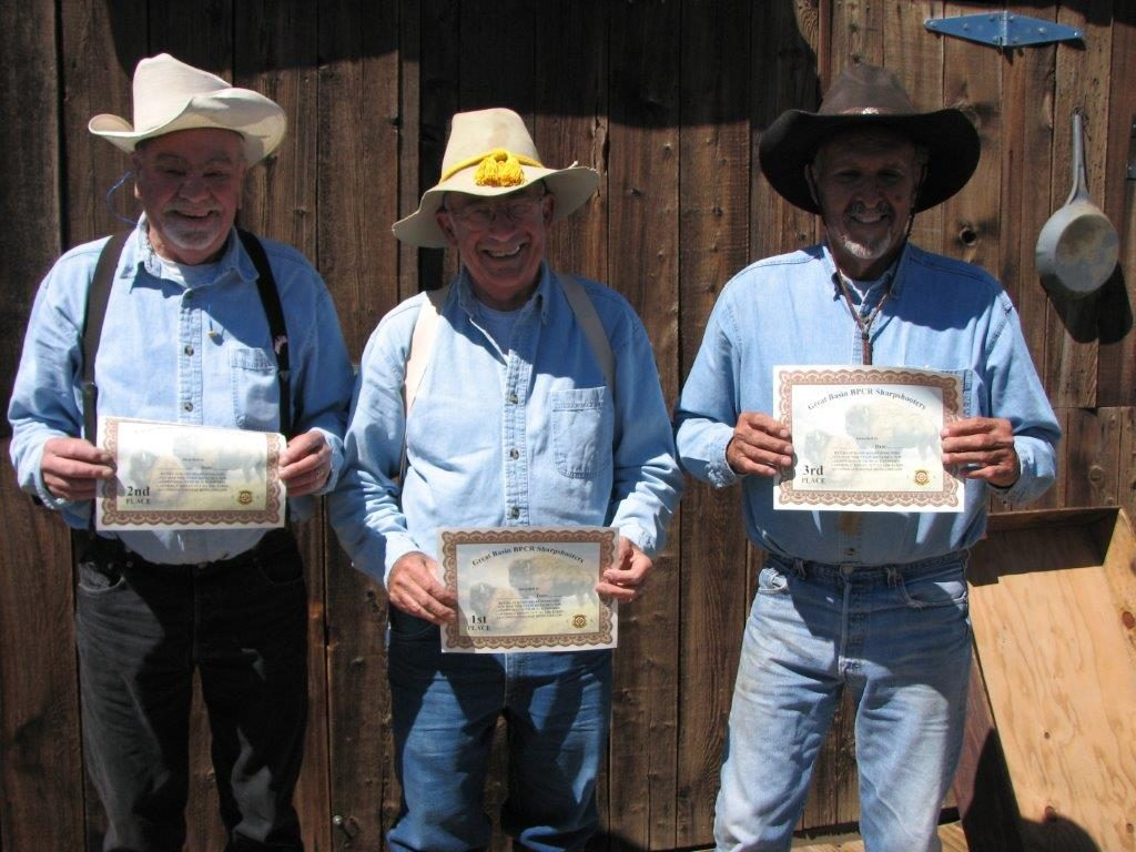 July Buffalo Match Winners L to R Butch, Bert, Brownie