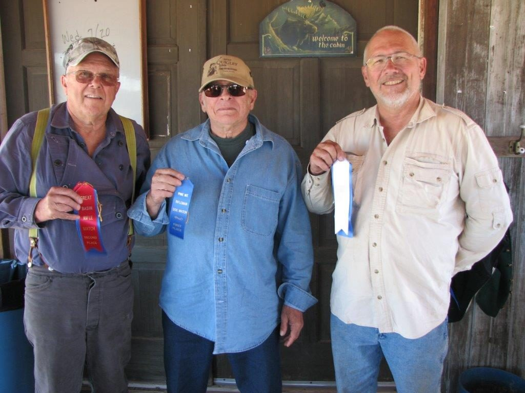 July Military Single Shot Match Winners L to R Tom, Gary, Skip