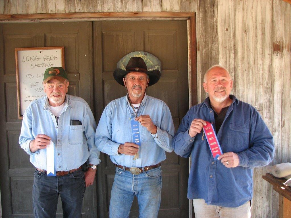 September 25 Cal Match winners L to R: Butch 3rd, Brownie 1st, Skip 2nd