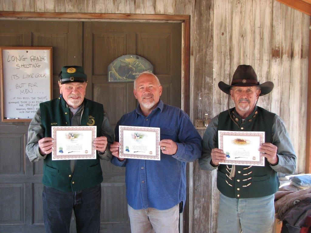 September Buffalo Match winners L to R: Butch, Skip 1st, Brownie