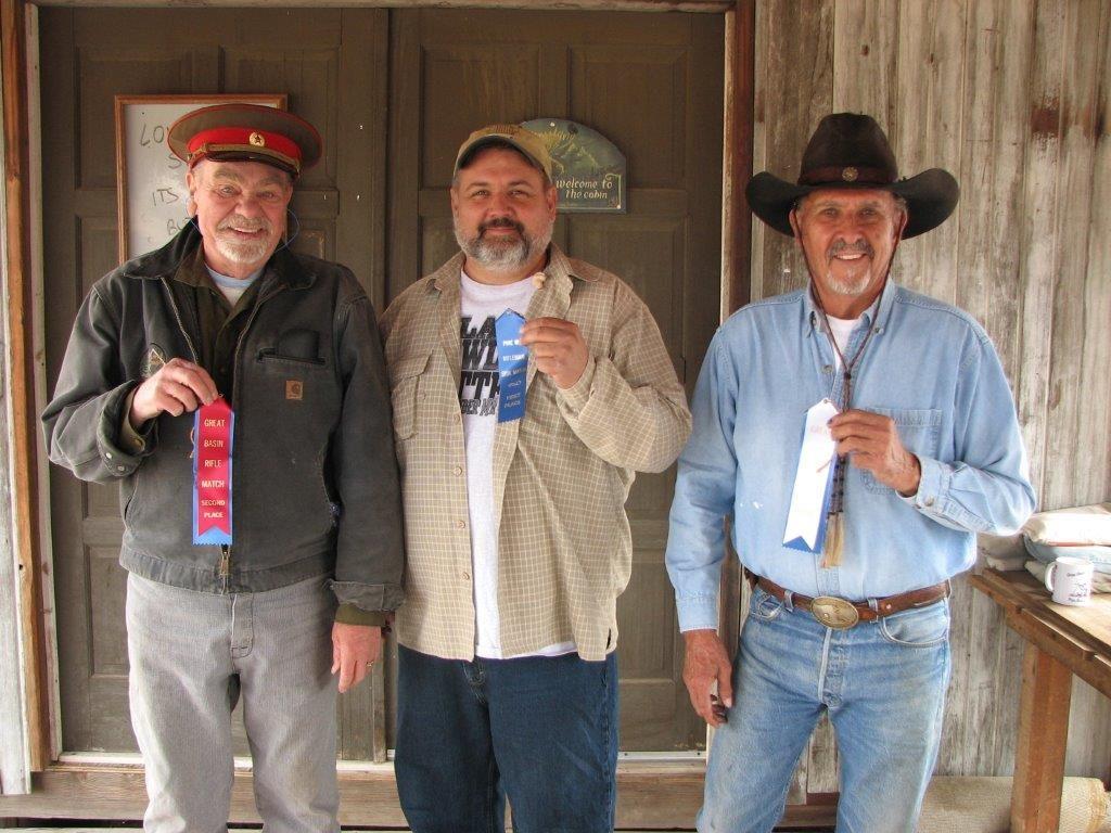 September Mid Range Match winners L to R: Butch 2nd, Dan 1st, Brownie 3rd