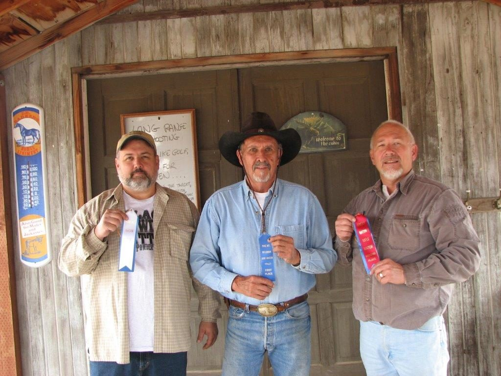 September Military Single Shot winners L to R: Dan 3rd, Brownie 1st, Skip 2nd