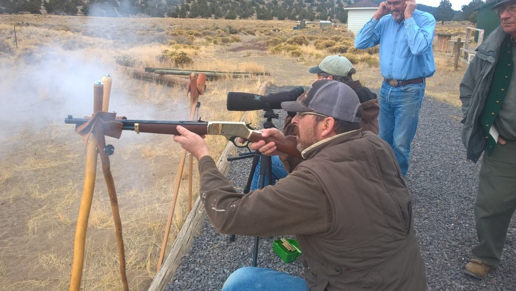 John, shooting his new Henry, getting lots of advice from Dave, who brought him, as well as Brownie and Bert