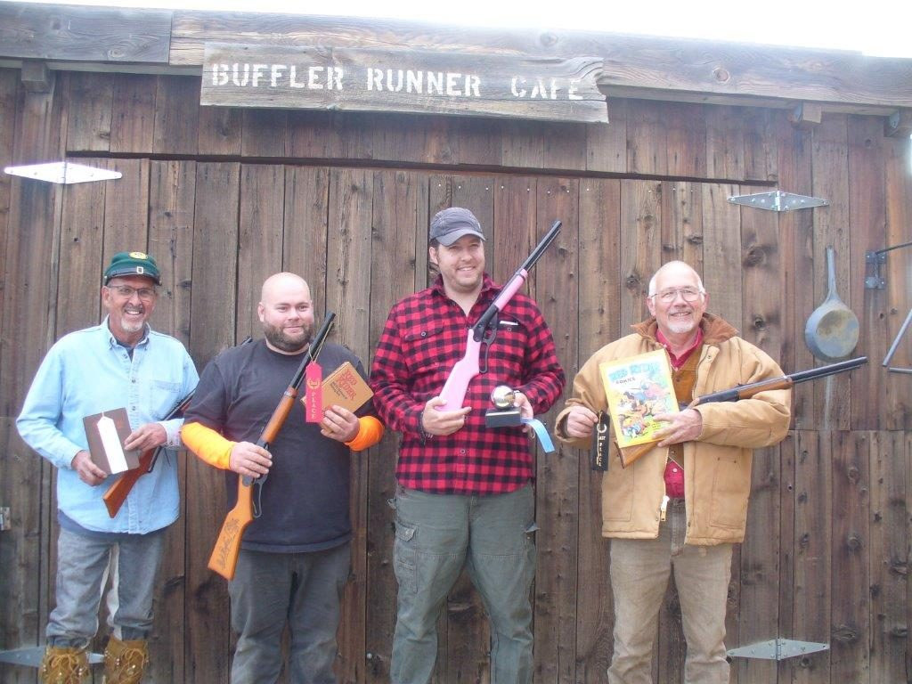 BB gun match competitors, Brownie, Brad, Mark, and Skip.